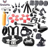 SnowHu For Gopro accessories set mount tripod for go pro hero 5 4 3 sjcam sj4000 for Go pro 5 kit for xiaomi yi4K camera GS52