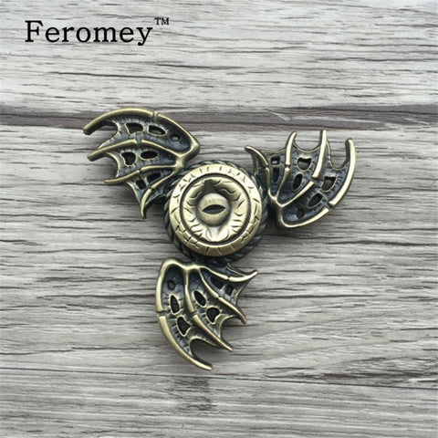 Game of Thrones EDC Fidget Spinner Toys Dragon Eyes Metal Hand Spinner Toy Finger Spinner Tri Spiner Anti Stress for ADHD