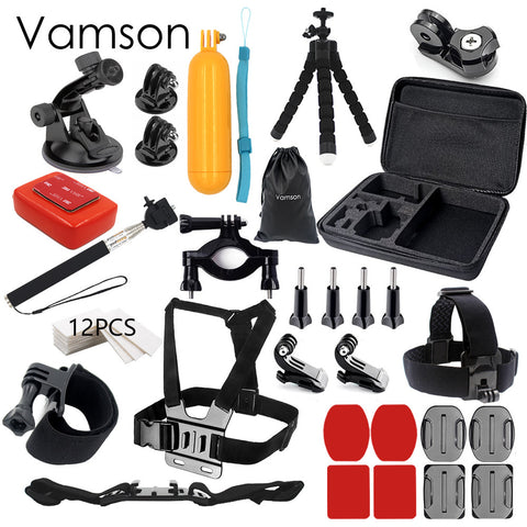 Vamson for Gopro hero 5 accessories set for gopro kit mount for SJ4000 hero 4 3 2 1 Black  for SJCAM M10 for SJ5000 case  VS74