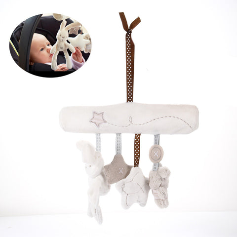 Lovely Music Plush Activity Crib Stroller Baby Soft Toys Hanging Rabbit Star Shape M09