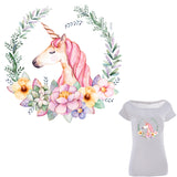Colife Unicorn Patch Flower Patches For Clothes T-shirt Dresses Sweater Transfer Applique DIY Accessory Decoration For Girls