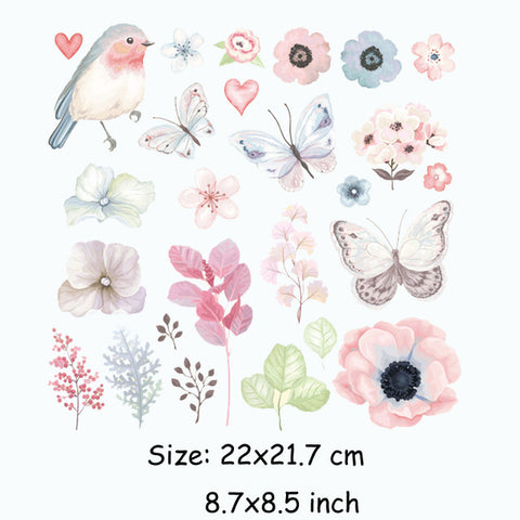 Colife Flower Patch T-shirt Dresses Patches For Clothing 22*21.7cm A-level Washable Heat Transfer DIY Accessory Decoration