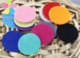 Round Felt fabric pads accessory patches circle felt pads, fabric flower accessories D14010403