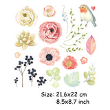 Colife Cartoon Flower Patches For Clothes Girls'DIY Accessory Decoration Easy Print On T-shirt Dresses A-level Washable Patch