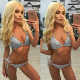 Hot Sexy Bikini 2017 Summer Sequins Swimwear Women Bandage Beach Swimsuit Bathing Suit Brazilian Bikini Set Maillot De Bain