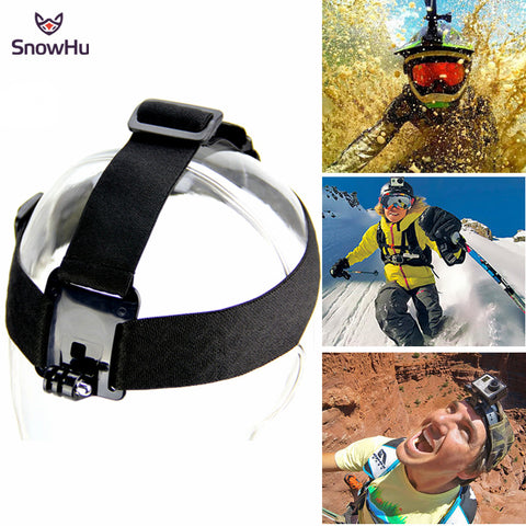 SnowHu Head Strap Action Camera For Gopro Hero 5 4 3 Black Elastic Type For Sport Cameras For Xiao Mi Yi SJ4000 Accessories GP23