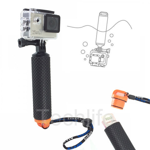 For Go pro Floating Bobber Hand Grip For Gopro Hero 5 4 Xiaomi yi Float Pole handle Slefie Stick for SJCAM SJ4000 action camera