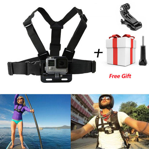 For Gopro Chest Mount Belt Strap Action Camera Holder Sport Cam SJ4000 Strap For Xiao Mi Yi Hero 5 4 3 3+ Accessories Adjustable