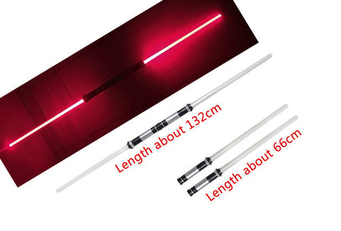 2pcs/lot Star Wars Lightsaber LED 7 colors changing double sword top 2107 toys star wars lightsaber cosplay props for halloween