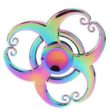 Tri Fidget Toy Spinner Metal Finger Spinners ADHD Autism Focus Toys for Kids Adult Stress Spinner Gold Silver
