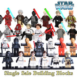 1PC Classic Star Wars C-3PO Leia Obi Wan Kenobi diy figures Jedi Knight Darth vader Force Awakens Building Blocks Kids Toys