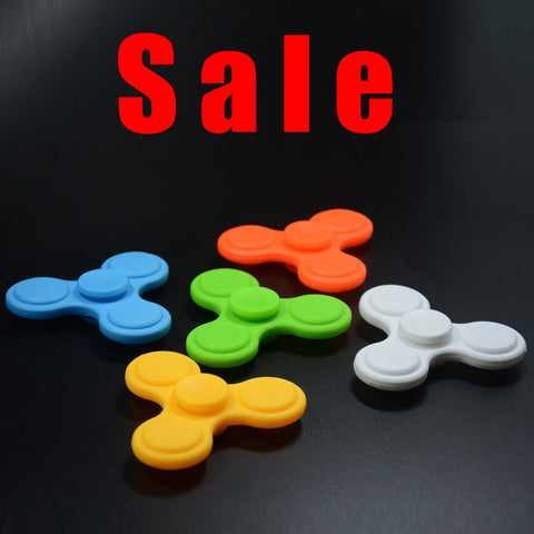 Free Shipping Plastic Tri-Spinner Fidget Toy Plastic EDC Hand Spinner For Autism and ADHD Rotation Time Long Anti Stress Toys