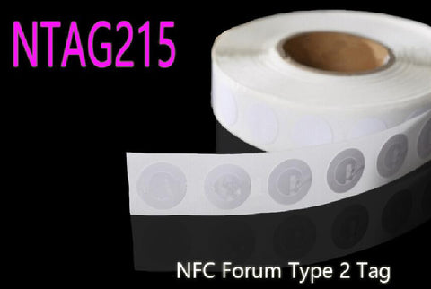 10pcs NTAG215 NFC TAG NFC Forum Type 2 Tag All NFC Phone Available NFC Adhesive Labels Dia.25mm