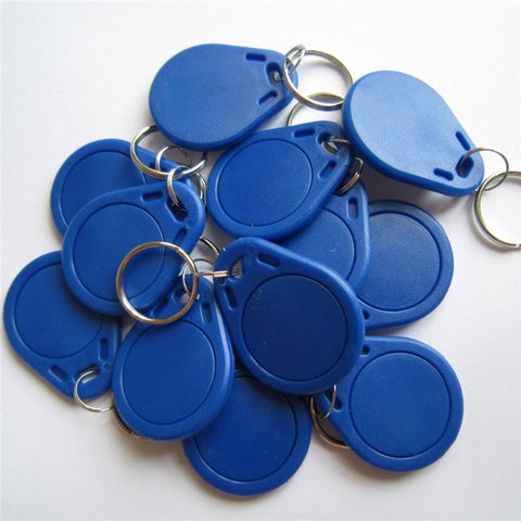 10pcs/lot 13.56Mhz NFC Tag MF S50 1k F08 IC Keyfobs ISO14443A Writeable NFC Card Use ABS Material