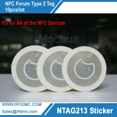 Ntag213 NFC Stickers Universal Lable Ntag213 RFID Tag for all NFC enabled phones-10pcs/lot