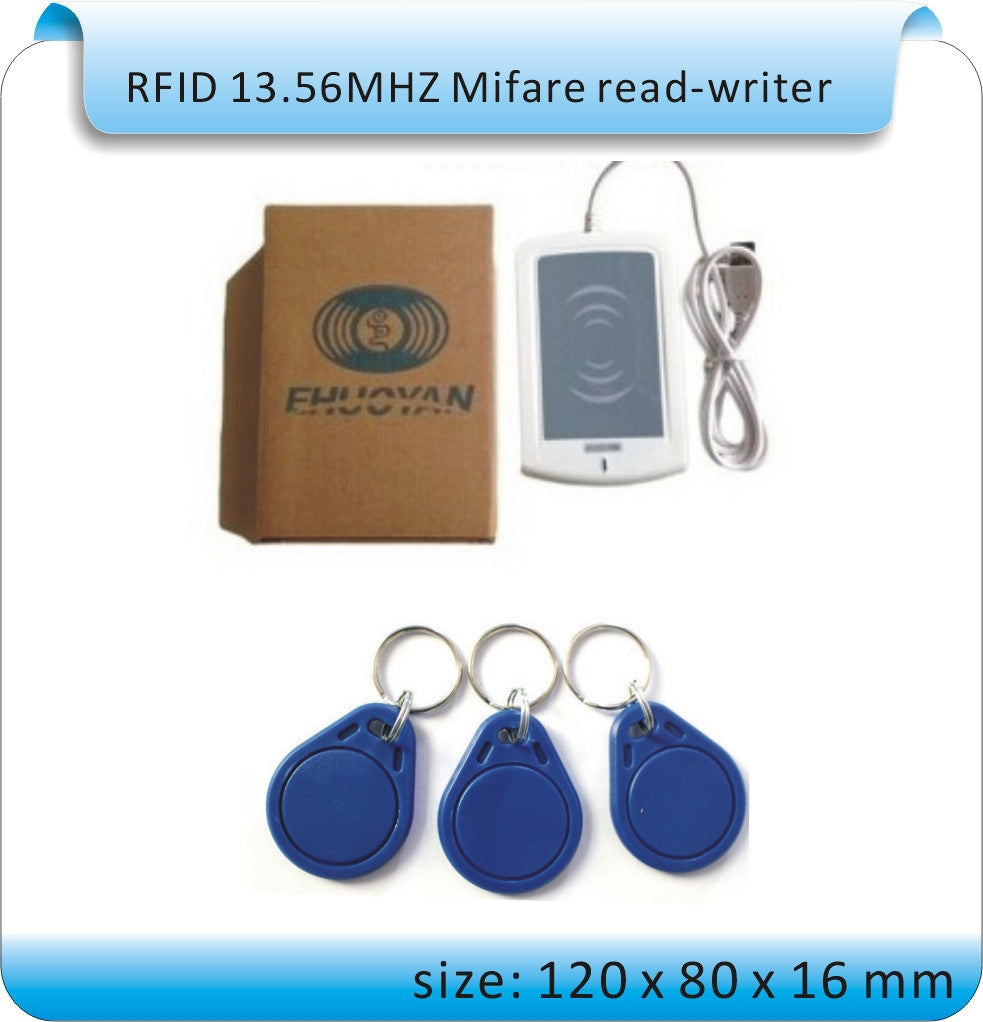 ER301 RFID 13 56MHz USB NFC Read- Writer + SDK + IC card and NFC Tag +  software Reader ISO14443A 1K S50 4K S70