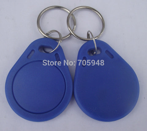 10PCS RFID KeyFobs 13.56MHz  Proximity ABS IC Tags NFC 1k Tag Access Controller With Chinese Fudan S50 1K Chip