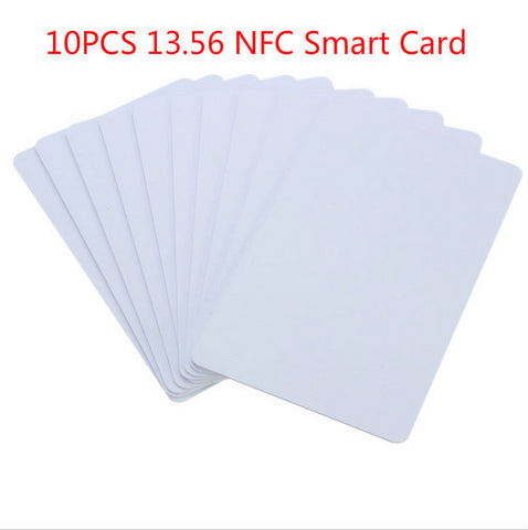 White 10Pcs/Pack PVC NFC Smart Card Tag S50 For IC 13.56MHz RFID Readable Writable 8.5 x 5.4 x 0.1cm New