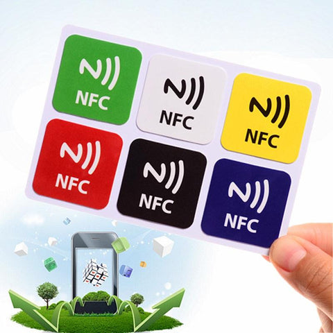 6Pcs Waterproof NFC Smart Tags Smartphone Adhesive RFID Label Tag Sticker