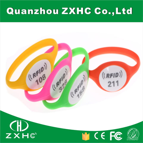 (7PCS/Lot) Large Stock 7 Different Colors Silicone Wristband Bracelet Tag NFC Ntag213 For Samsung and all NFC Phones