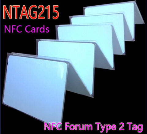 10pcs NTAG215 NFC Forum Type 2 Tag ISO/IEC Smart Card 14443 A RFID Cards Tag for NFC Mobile Phone