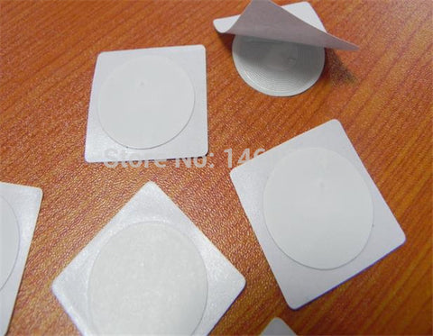 100 Pcs/lot  ISO14443  13.56Mhz NFC tag  Ntag216 888bytes NFC Sticker Compatible with any smart phone with NFC function