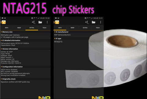 10pcs NFC NTAG215 Sticker NFC Forum Type 2 Tag RFID Tags