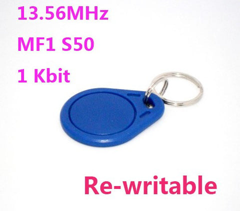 100pcs NFC Tag 13.56Mhz  ISO14443A  Rfid Tags Keyfob Rewritable FUDAN F08 Chip Compatible MF S50