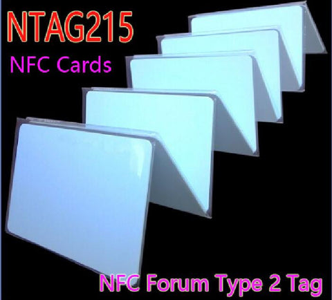 50pcs/Lot NFC NTAG215 Card 13.56 MHz ISO14443A RFID Tags Smart Cards NFC Forum Type 2 Tag For All NFC Phone