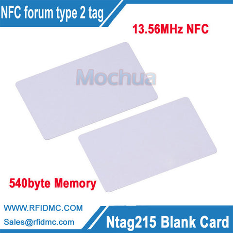 13.56MHz NTAG215 Card NFC Card NFC Forum Type 2 Tag for All NFC enabled devices