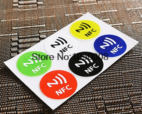 6pcs NFC Tags Sticker 13.56MHz ISO14443A Ntag 213 NFC Stickers Universal Lable Ntag213 RFID Tag for all NFC enabled phones