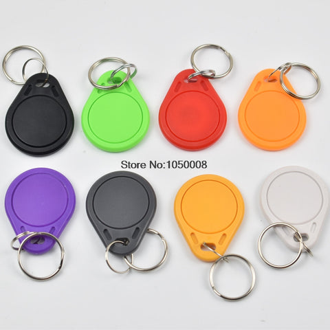 1000pcs RFID key fobs 13.56MHz proximity NFC tags NTAG215 keyfob tag for all nfc products