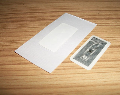 100pcs/lot 30*15MM white RFID NFC Label/Sticker/Tag 13.56MHZ ISO 14443A Mifare1K S50