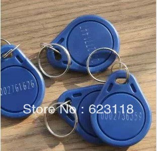 Free Shipping 50PCS/Lot  13.56MHz M1 S50 Smart IC Key Fobs / IC Tag / NFC Tag 1K Memory Re-writable Waterproof RC522 RFID