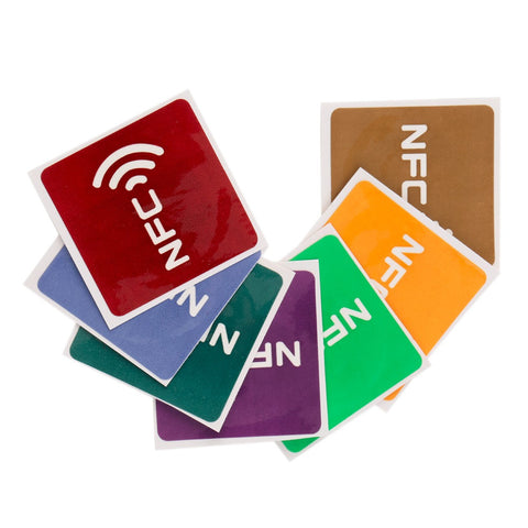 Newest 7pcs Multicolor Square NFC Tags Stickers Lables For NFC-enabled Device Wholesale