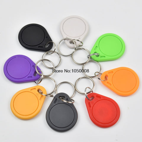 300pcs/bag RFID key fobs chip 13.56MHz proximity NFC tags NTAG213 keyfob tag for all nfc products