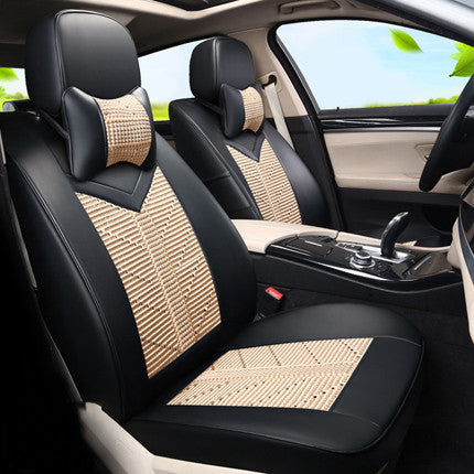 Black Ice Silk Fabric Seat Covers Cars Protector For Infiniti QX56 QX80 Car Cover
