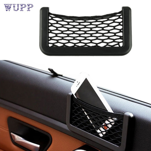 Dropship wupp Top Quality car-styling 15X8cm Automotive Bag With Adhesive Visor Car Net Organizer Pockets Net Jun.6