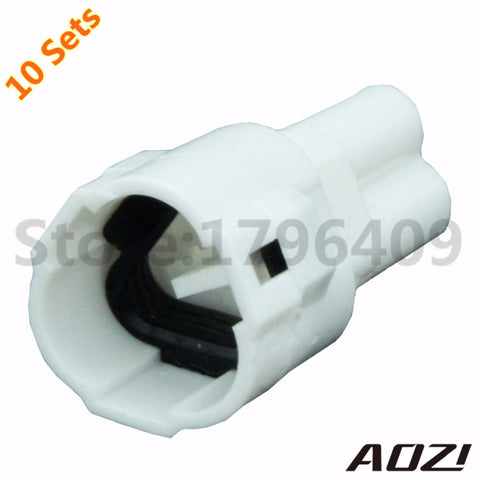 10 Sets Enhance Seal Waterproof 3p Cable Automotive Connector 6187-3231 White Plug