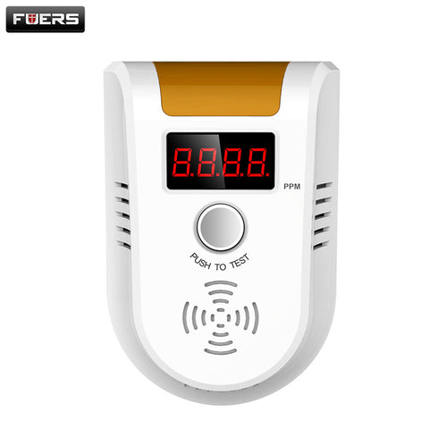Fuers Digital LED Display Combustible Gas Detector Home Alarm System personal safe Flash Gas sensor for personal Security