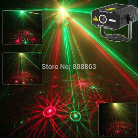New Mini 4in1 Patterns Sunflower Whirlwind R&G Laser Projector Lighting Stage Disco DJ Club KTV Xmas family party light Show p17