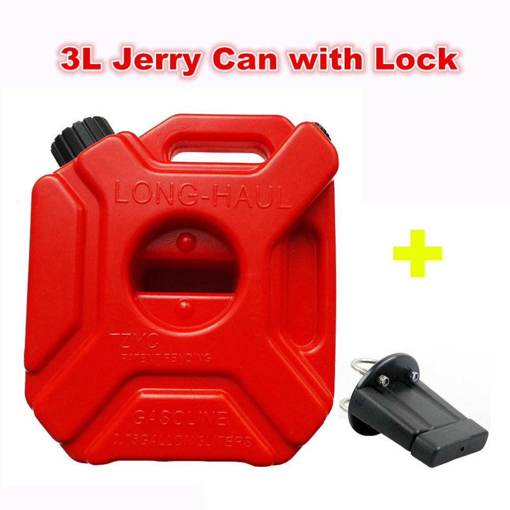 Plastic Gas Cans >> 3litre Fuel Tank Jerry Cans Spare Plastic Petrol Tanks Atv Jerrycan Mount Motorcycle Gas Can Gasoline Oil Container Fuel Jugs