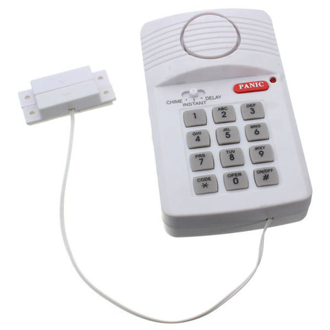 Brand New High Quality Security Keypad Door Alarm System With Panic Button For Home Shed Garage Caravan Hot Sale