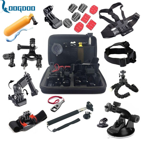 LoogDoo For Gopro Accessories 26-in-1 Set Chest Belt Head Mount Strap Suitable For Go pro Hero 5 4 3+ 2  xiaomiyi 2 camera TZ32
