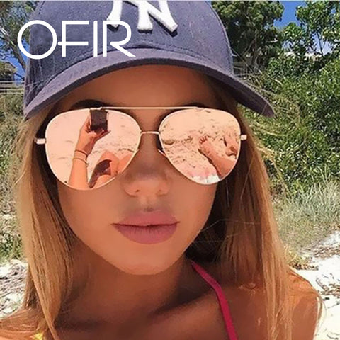 OFIR 2017 Brand Designer Oversized Pilot Oval Sunglasses Women Men  Sun Glass Aviation Metal Frame Mirror Driving Female Glasses