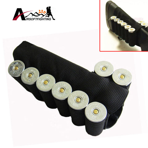 Rifle 8 Round Buttstock Shell Ammo Holder Tactical Elastic Carrier Loop Military Paintball Ammo Rifle Gun Bullet Carrier#
