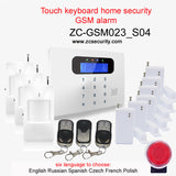 Wofea IOS & android APP control two way Intercom LCD touch keyboard wireless GSM alarm system security home kit