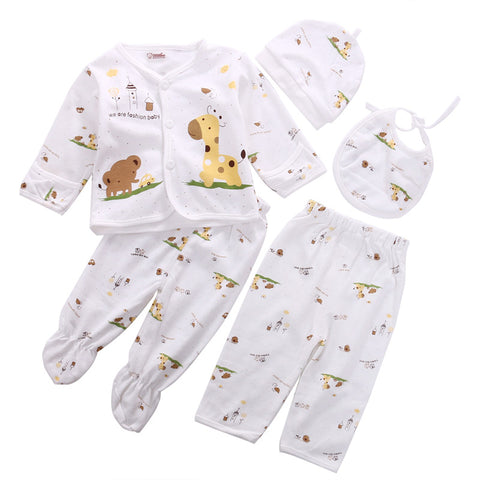 2017 Hot sales 5PCS Newborn Baby Clothes 0-3 Month Boy Girls Cotton Cartoon Underwear Baby Clothing