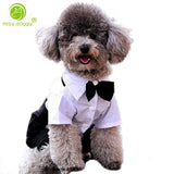 2017 Western Style Mens Suit for Pet Dog Clothes Festival Wedding Suit & Bow Tie Puppy Dog Four Legs Coats Jackets Jumsuit S-XXL