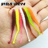 10pcs/lot 0.6g 6cm silicone bait Fishing Worm Soft Lures iscas artificiais para pesca soft baits Fishing Lure fishing gear